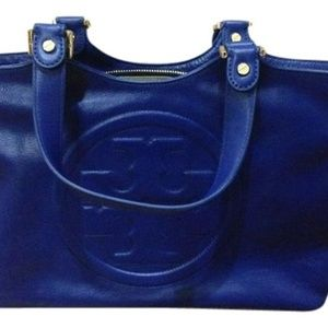 Tory Burch Bombe Leather Tote - Blue